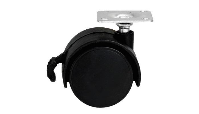 Мебельное колесо на площадке с фиксатором FEX 0500